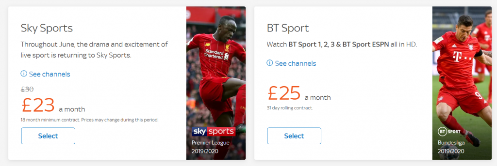 Add BT Sport Add-on to Sky Broadband