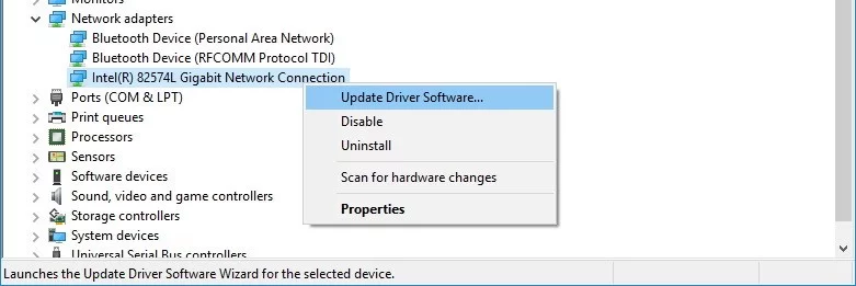 How to update Windows Network Driver